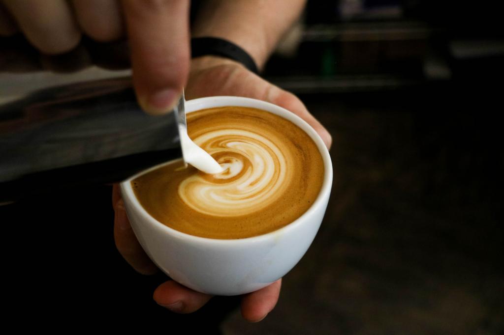 El marrón de Venezuela tiene una medida equitativa de leche y café.
